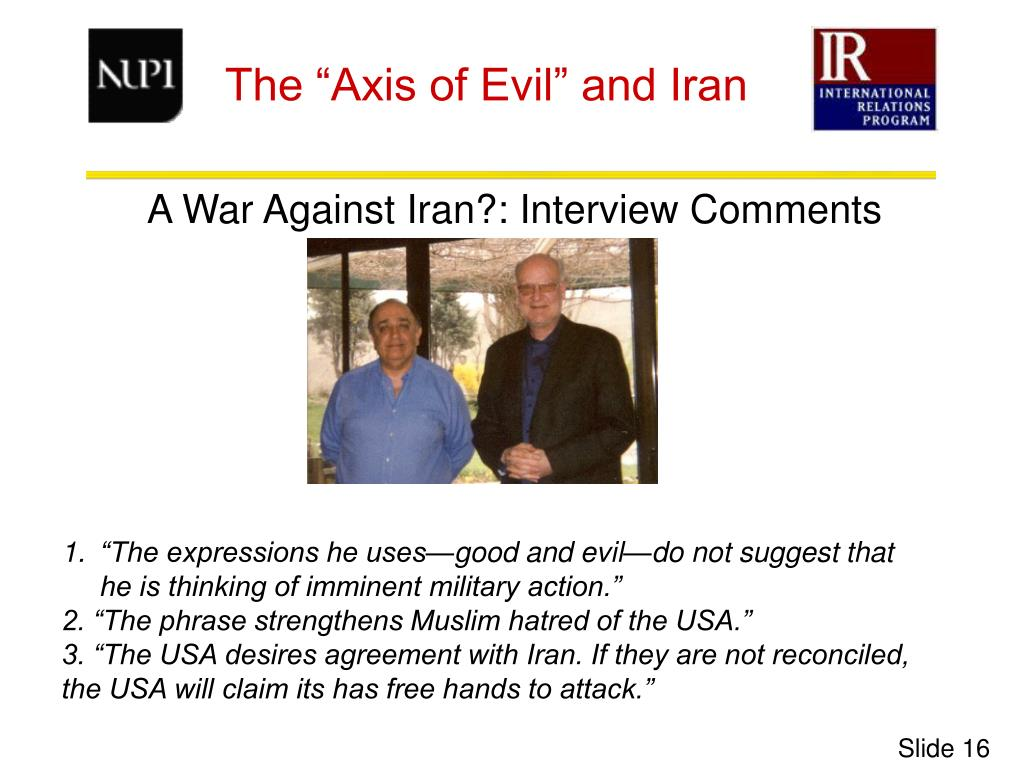 A War Against Iran?: Interview Comments