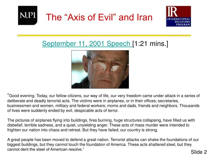 September 11, 2001 Speech
