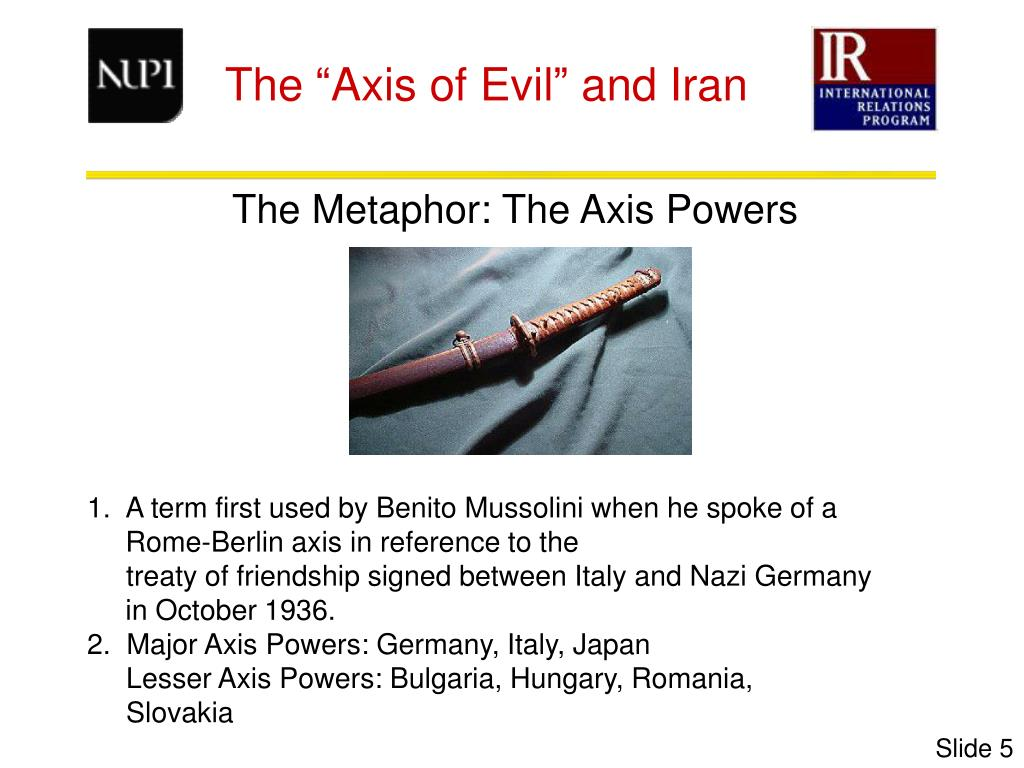 The Metaphor: The Axis Powers