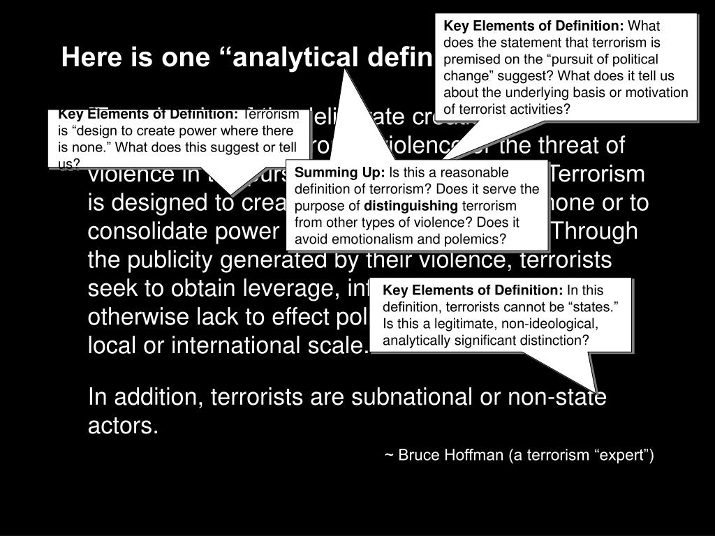 Key Elements of Definition: