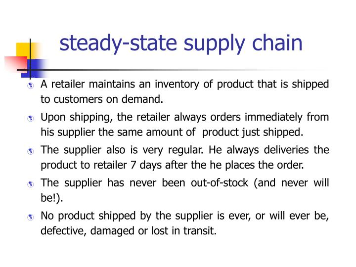 steady-state supply chain