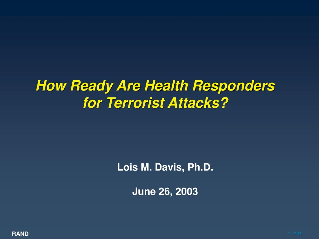 how ready are health responders for terrorist attacks