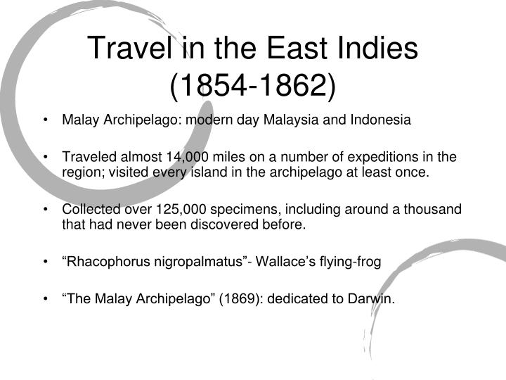 Travel in the East Indies