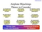 airplane hijackings things to consider
