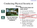 conducting physical security at home