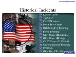 historical incidents