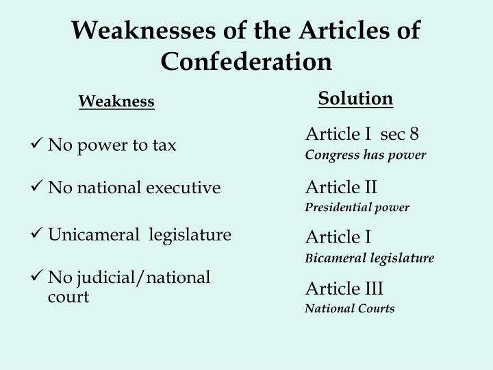 how were the articles of confederation Why were the articles of confederation weak in what ways did the first constitutions and the articles of confederation reflect older pre-revolutionary ideas about.