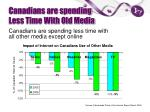 canadians are spending less time with old media