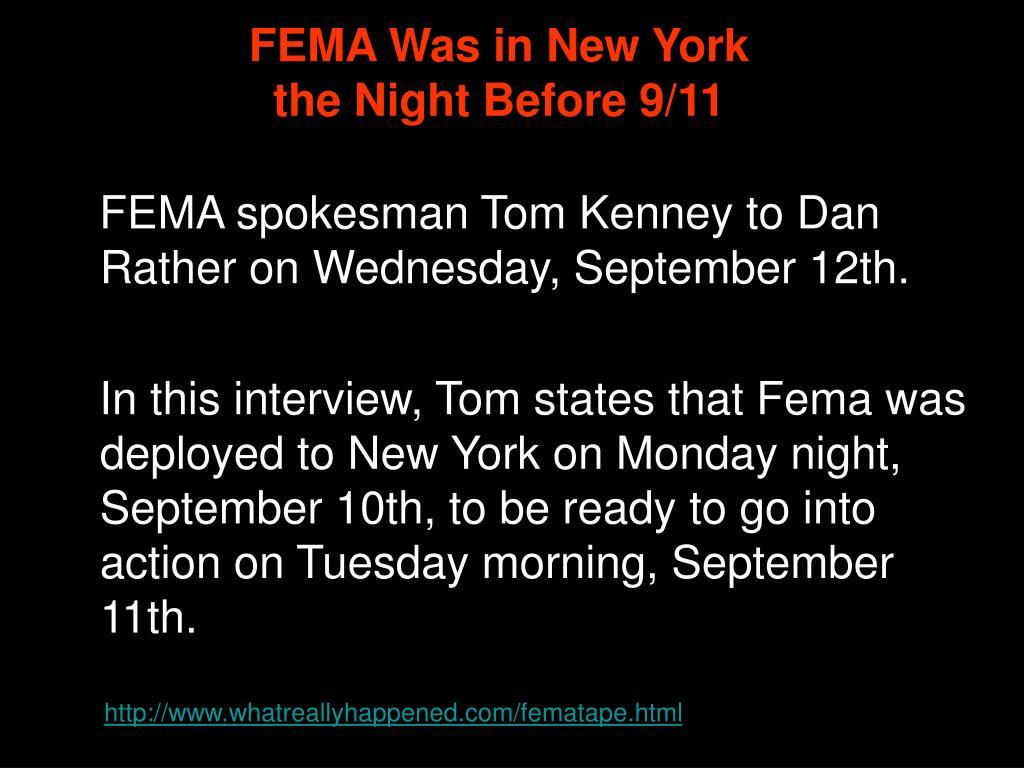 FEMA Was in New York