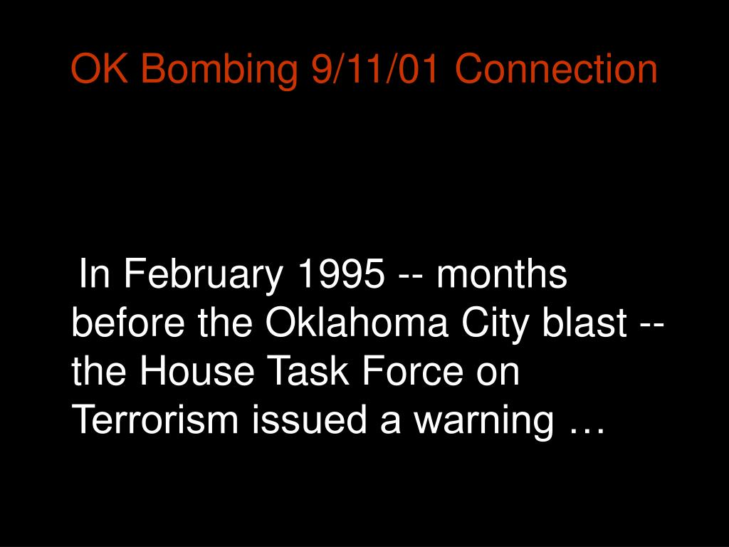 OK Bombing 9/11/01 Connection