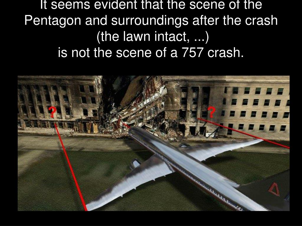 It seems evident that the scene of the Pentagon and surroundings after the crash