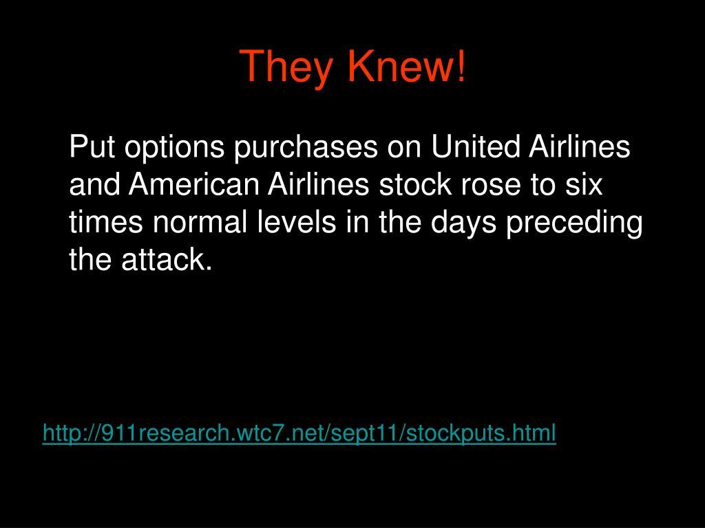 They Knew!