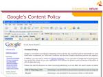google s content policy