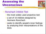 assessing the unconscious1