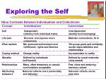 exploring the self2