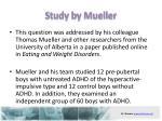 study by mueller