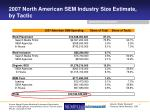 2007 north american sem industry size estimate by tactic