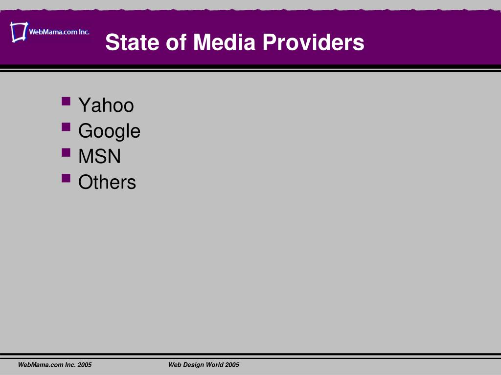 State of Media Providers