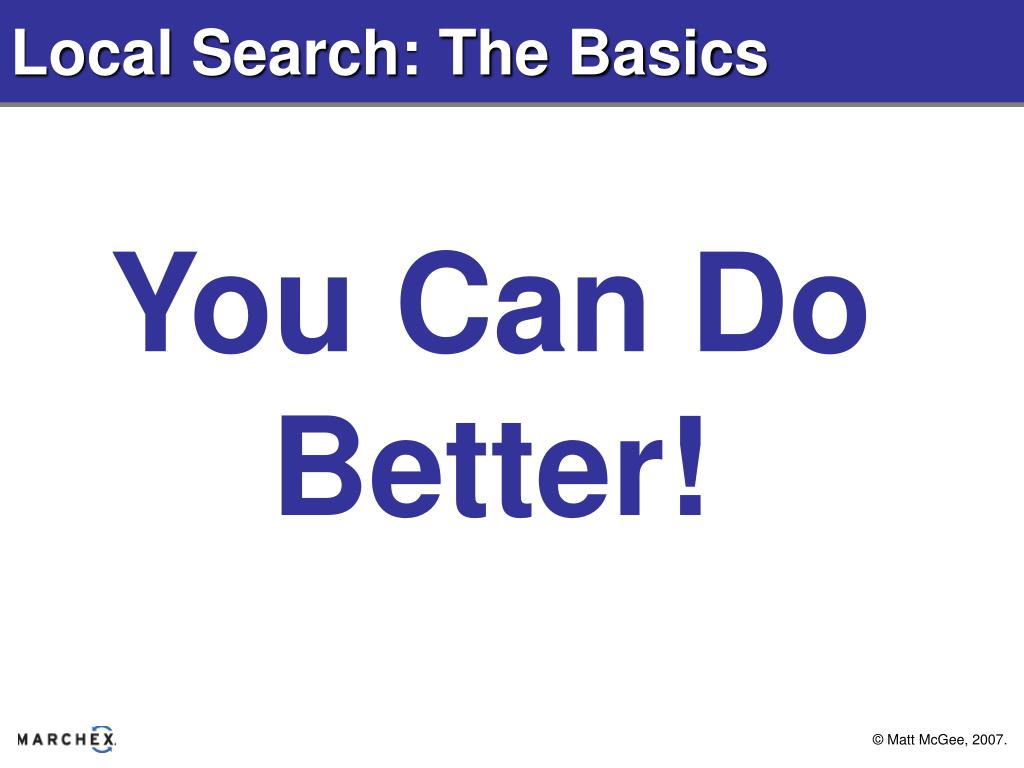 Local Search: The Basics