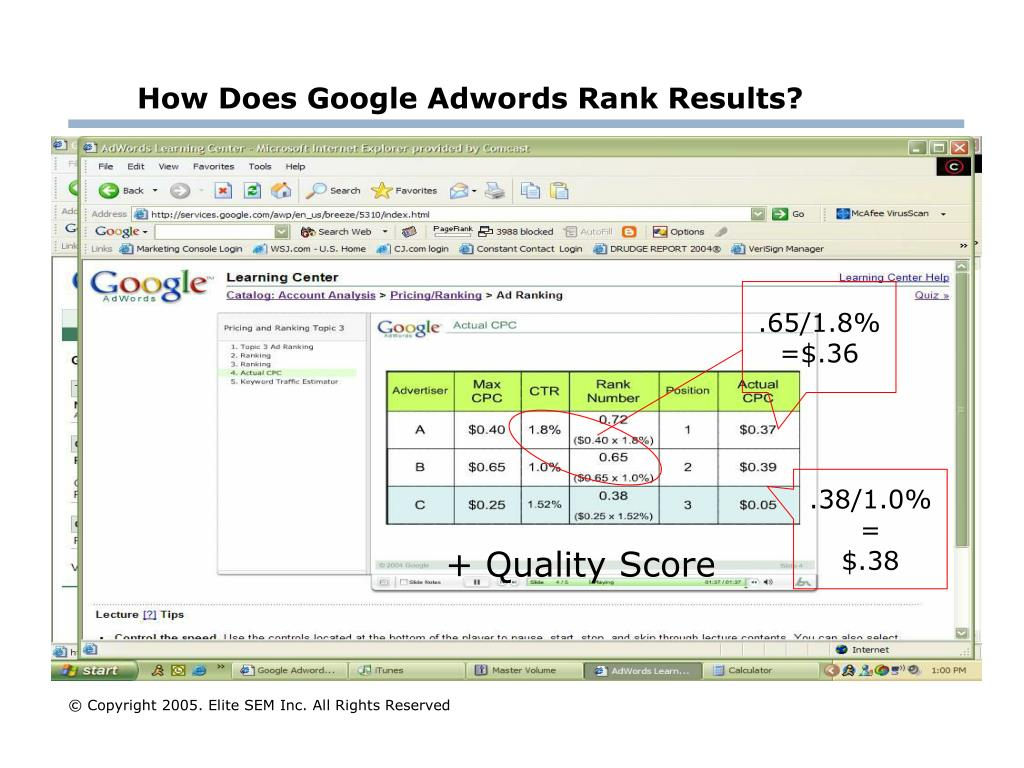 How Does Google Adwords Rank Results?