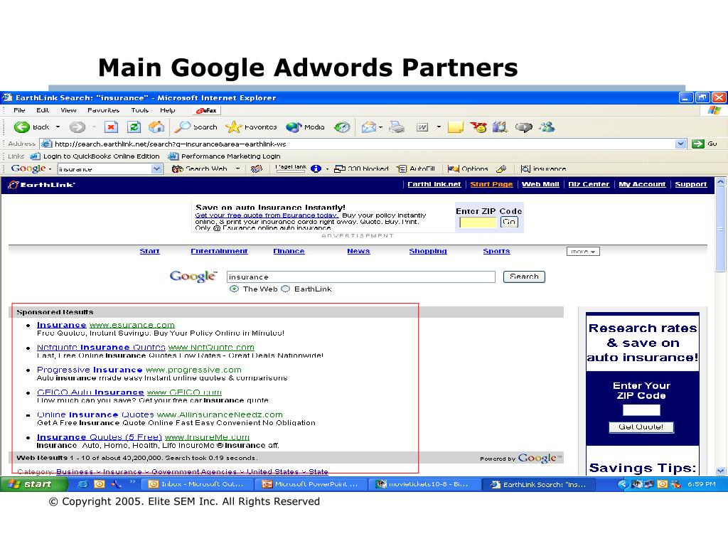 Main Google Adwords Partners