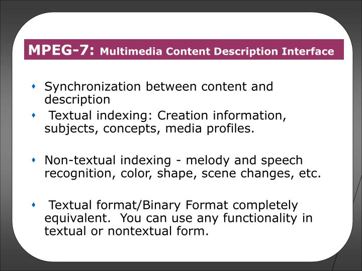 Synchronization between content and description