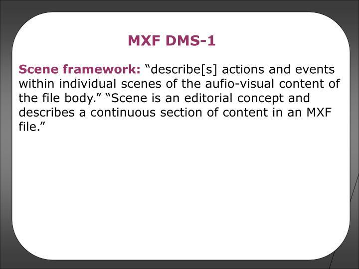 MXF DMS-1