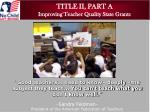 title ii part a improving teacher quality state grants1