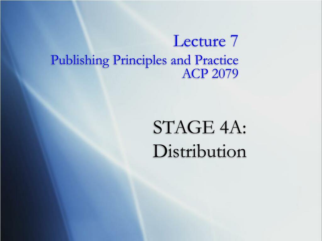 stage 4a distribution l.