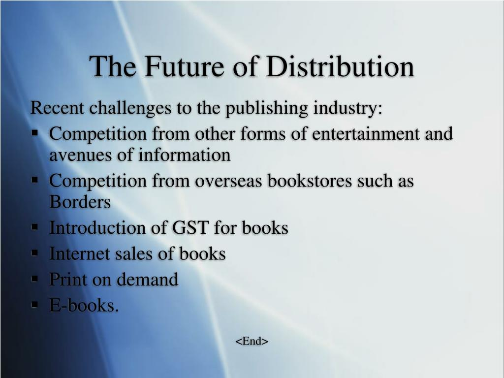 The Future of Distribution