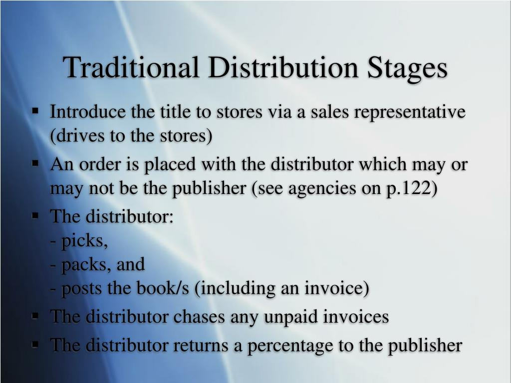 Traditional Distribution Stages