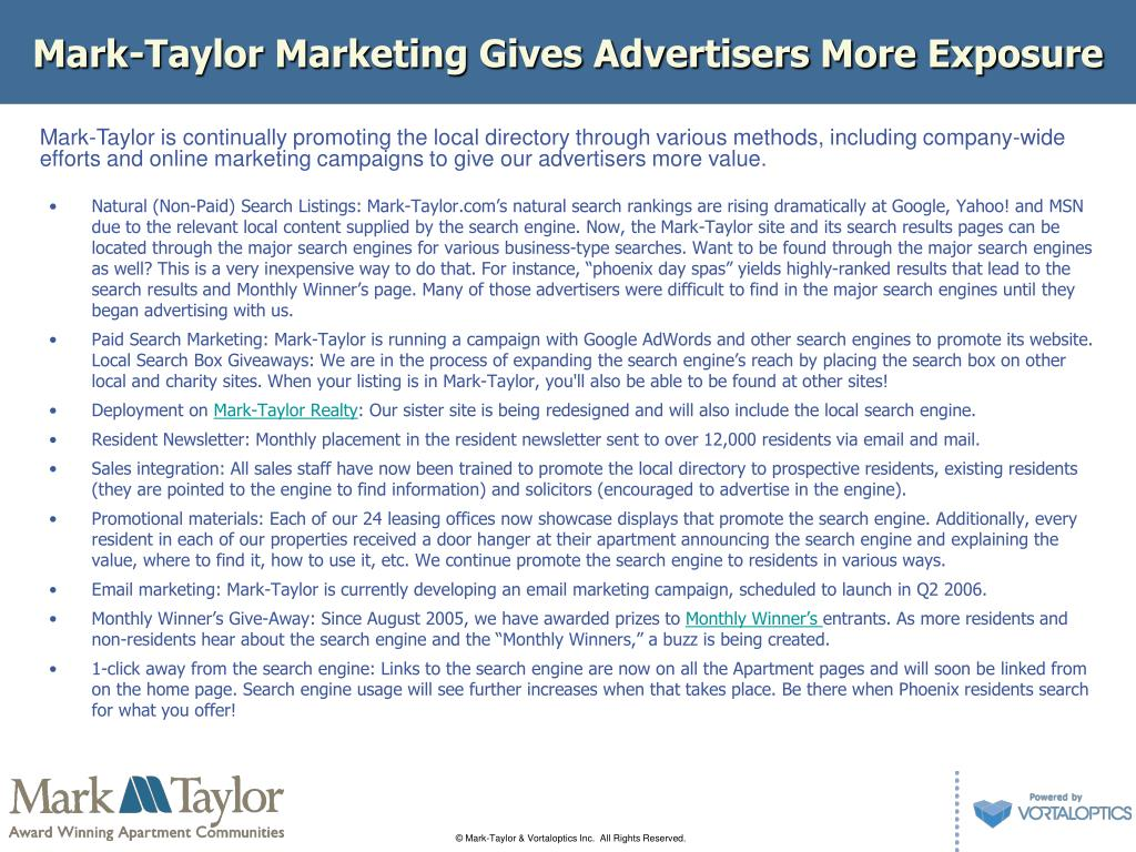 Mark-Taylor Marketing Gives Advertisers More Exposure