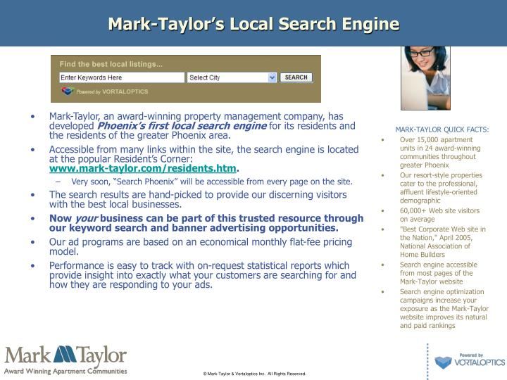Mark taylor s local search engine