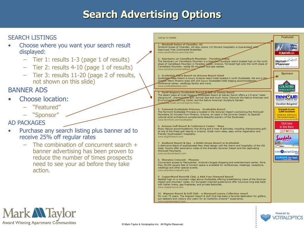 Search Advertising Options
