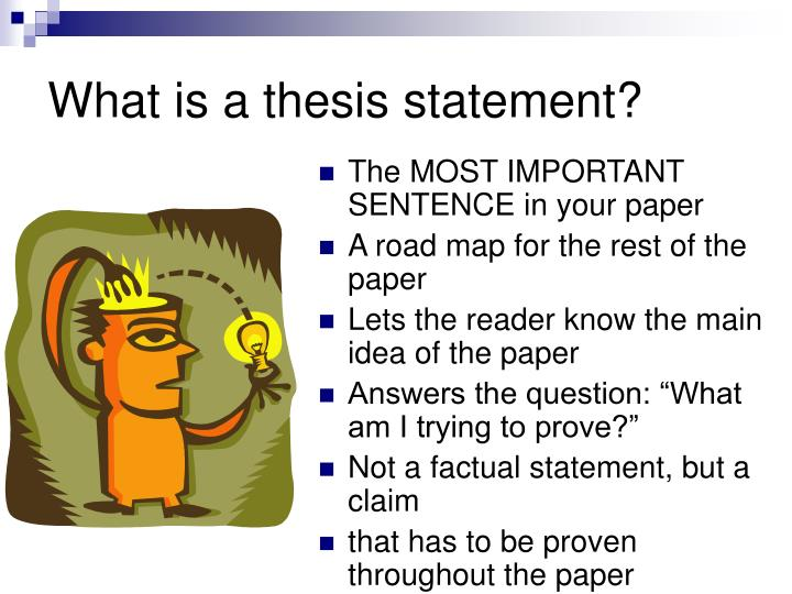 Thesis statement for a report