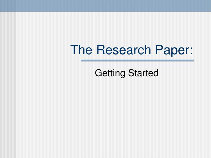 powerpoints on research papers Research paper - scope & limitations (reporting)ppt - free download as powerpoint presentation (ppt), pdf file (pdf), text file (txt) or view presentation slides online scribd is the world's largest social reading and publishing site.