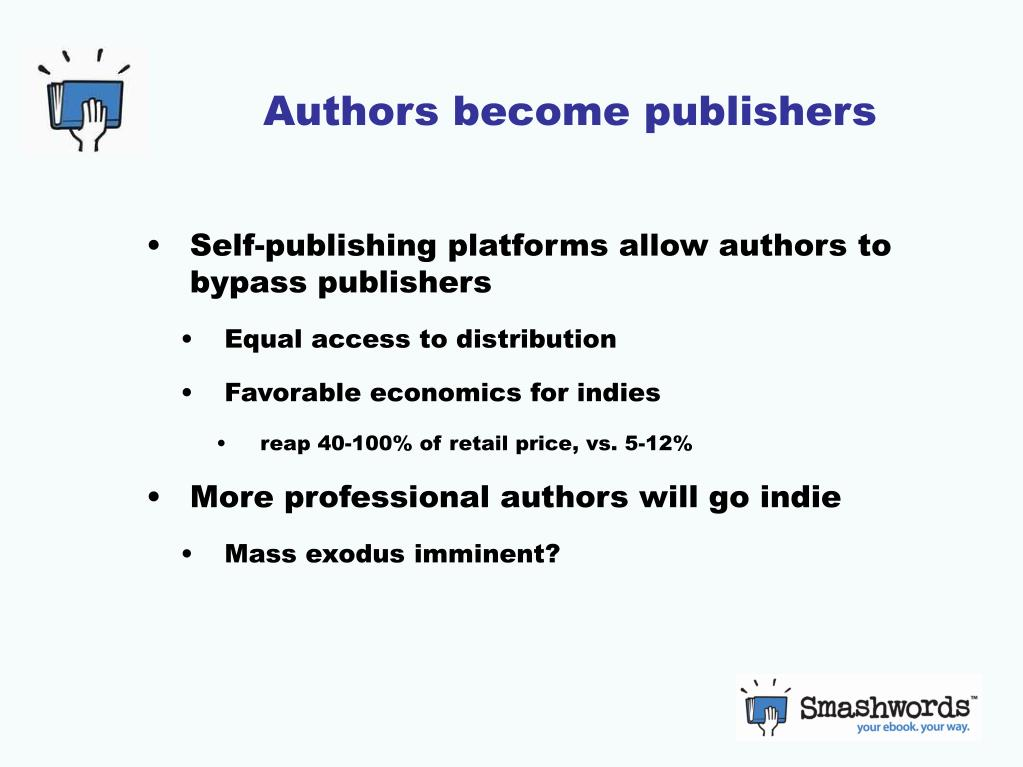 Authors become publishers