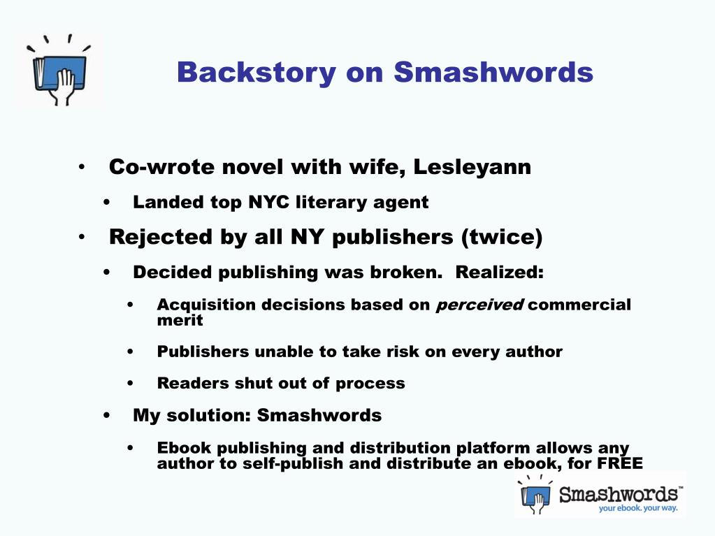 Backstory on Smashwords
