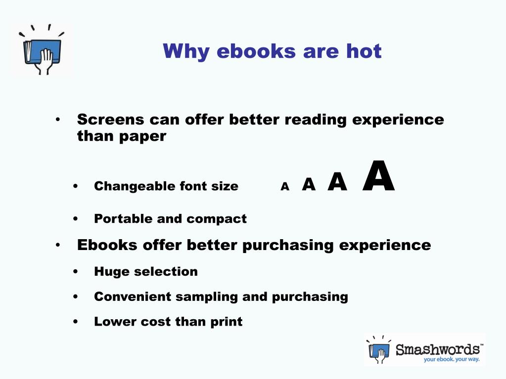 Why ebooks are hot
