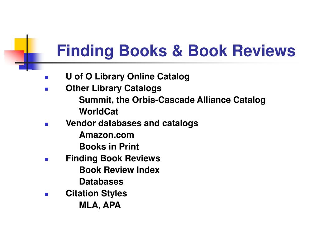 finding books book reviews l.