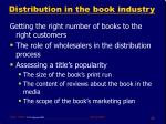 distribution in the book industry