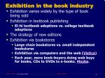 exhibition in the book industry