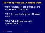 the printing press and a changing world15