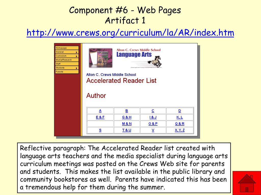 Component #6 - Web Pages