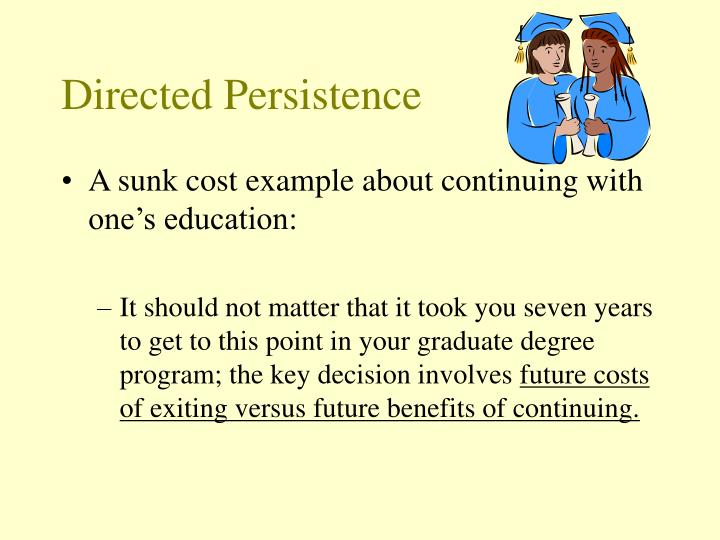 Directed Persistence