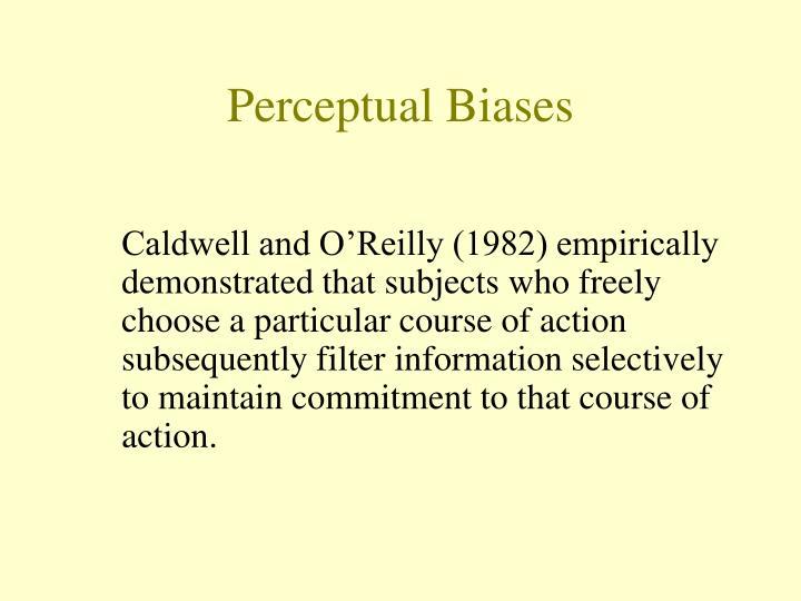Perceptual Biases