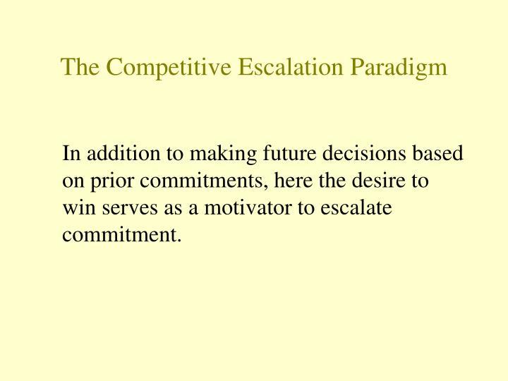 The Competitive Escalation Paradigm