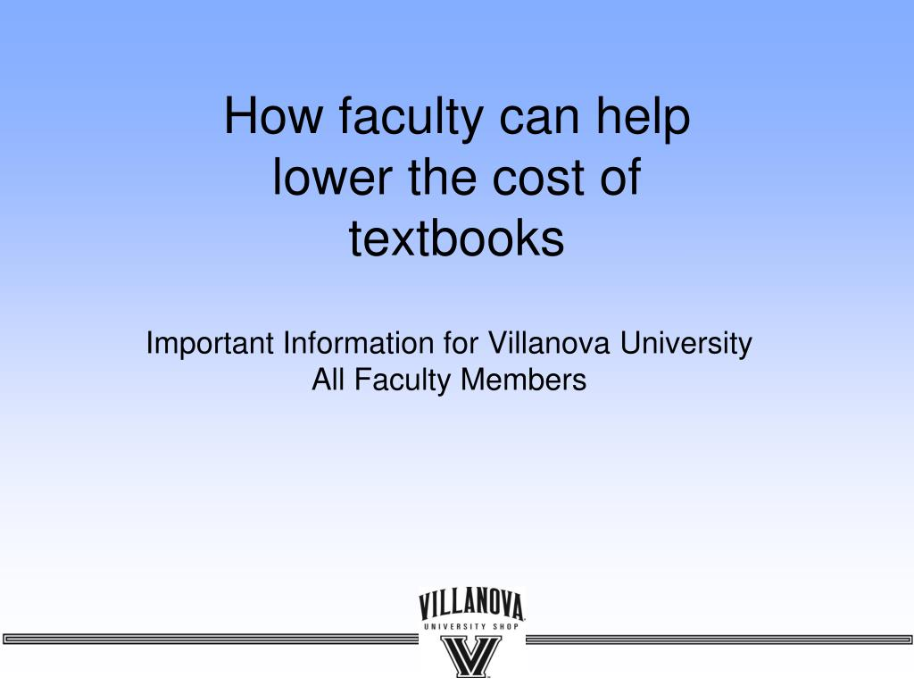 how faculty can help lower the cost of textbooks