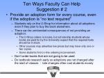 ten ways faculty can help suggestion 2