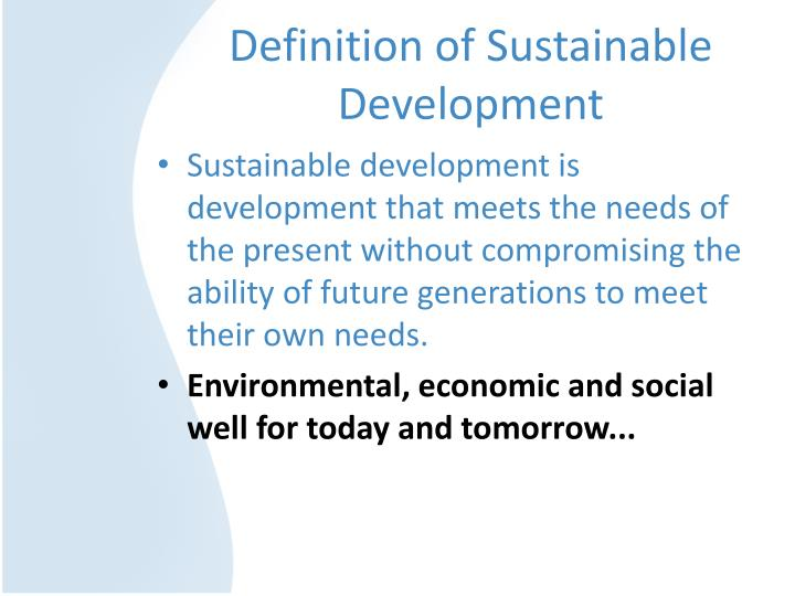 Definition of sustainable development